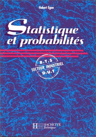9782010189029: Statistique et probabilit�s. BTS-DUT, secteur industriel