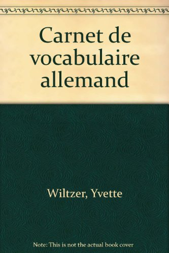 Carnet de vocabulaire allemand