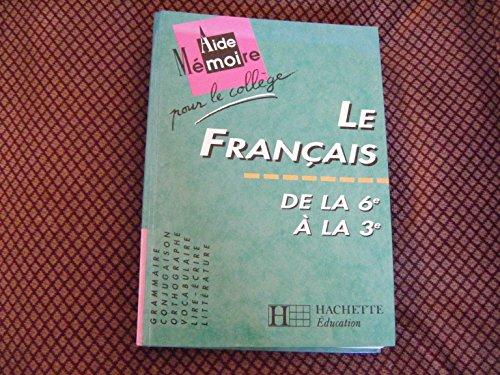 9782010191329: Aide mémoire pour le collège, français