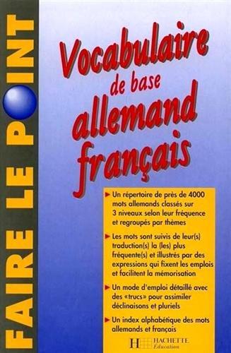 9782010205798: Vocabulaire de base Allemand Français : Edition 1997 entièrement refondue