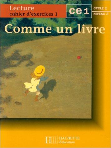 9782011160102: Comme un livre : cahier d'exercices n° 1 CE1