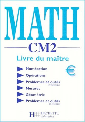 9782011162168: Math CM2. : Livre du maître
