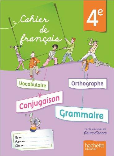 9782011204806: Cahier de français 4e - édition 2013 (Cahiers de français collège (Bertagna, Carrier))