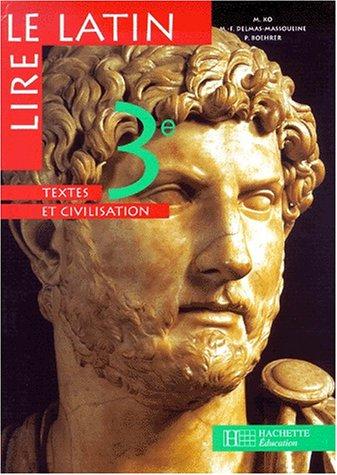 Lire le latin 3e - livre de: Ko