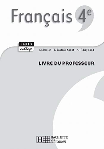 9782011254955 Francais 4e Livre Du Professeur Abebooks
