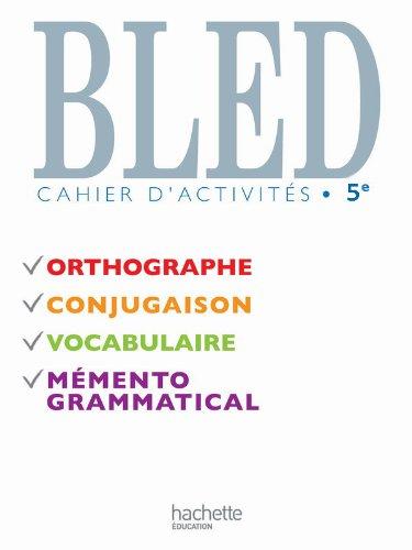 9782011255143: Bled Cahier d'activit�s 5e Nouvelle �dition 2010