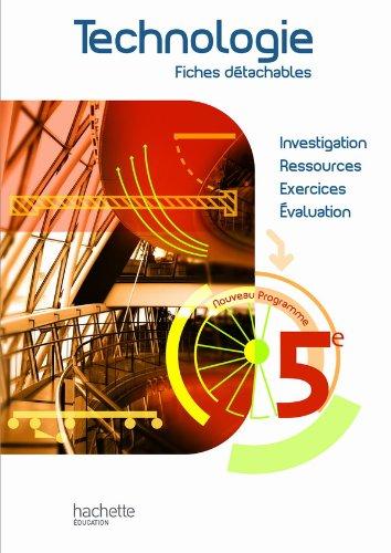 9782011255914: Technologie 5e - Fiches détachables - Edition 2010