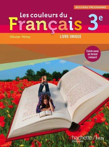 9782011256515: Les couleurs du Français 3e - Livre élève Grand format - Edition 2012