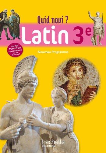 9782011256560: Quid Novi - Latin 3e - Livre élève - Edition 2012