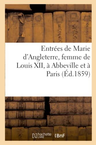 Entrees de Marie D Angleterre, Femme de: A Aubry