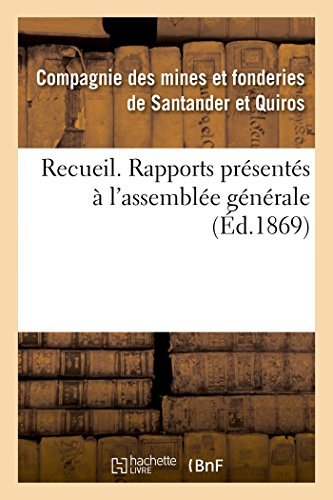 Recueil. Rapports Presentes A L Assemblee Generale (Paperback):