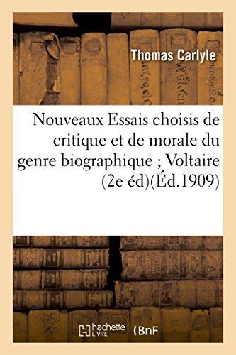 Nouveaux Essais Choisis de Critique Et de: Carlyle, Thomas
