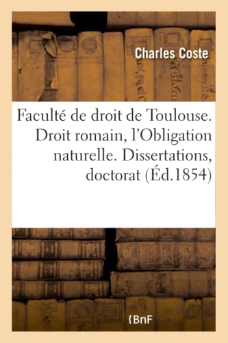 Faculte de Droit de Toulouse. Droit Romain,: Coste-C