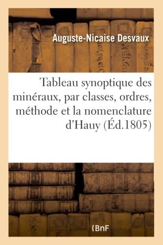 Tableau Synoptique Des Minéraux, Par Classes, Ordres: Desvaux-A-N