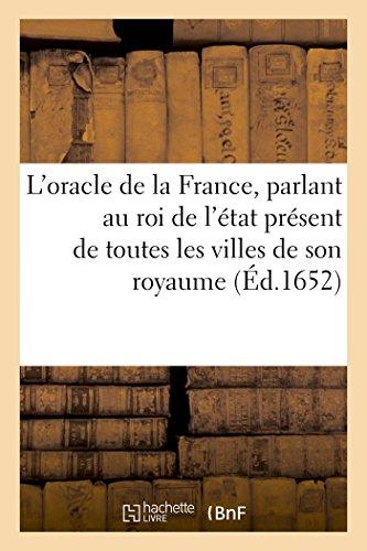 L Oracle de La France, Parlant Au: Sans Auteur
