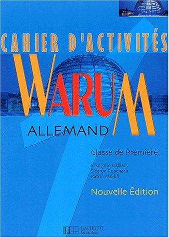 9782011352811: Allemand, 1ère (Cahier d'activités)
