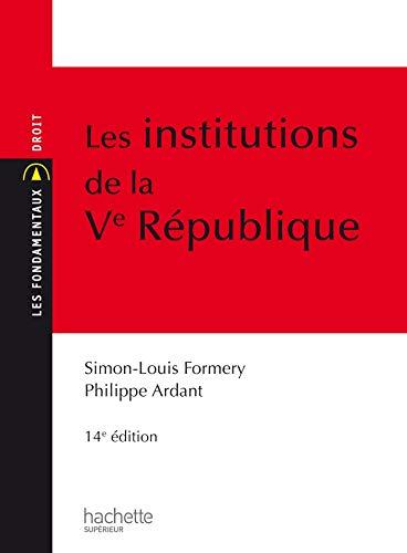 9782011401205: Les Institutions de la Ve R�publique