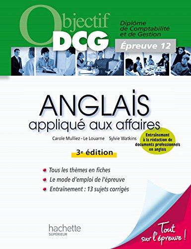 9782011403568: Objectif DCG Anglais appliqué aux affaires