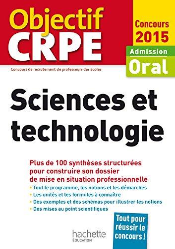 9782011404381: CRPE en fiches : Sciences et technologie - 2015