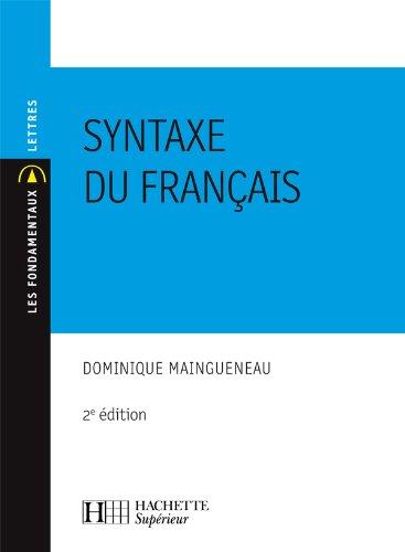 9782011457202: Syntaxe du français