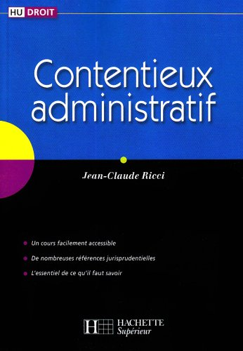 9782011458506: Contentieux administratif