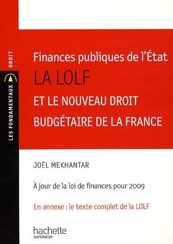 Finances publiques de l'Etat : La LOLF