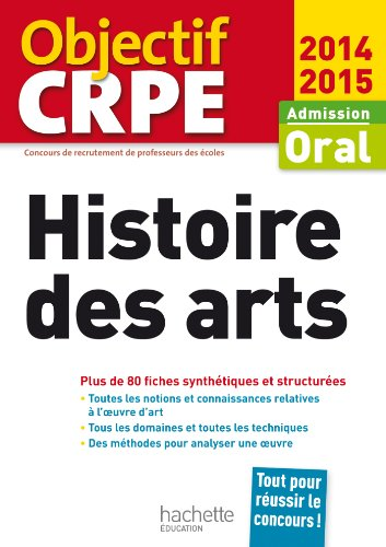 9782011463036: CRPE en fiches : Histoire des arts