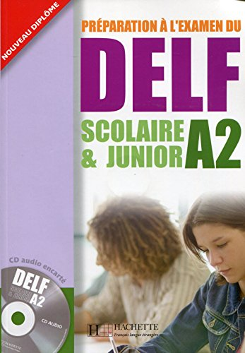 9782011554536: Préparation à l'examen du DELF A2 scolaire & junior (1CD audio)
