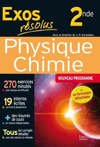 9782011601766: Exos résolus - Physique-Chimie 2de