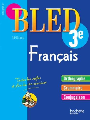 9782011602442: Cahier d'entraînement Bled Français 3e : 14-15 ans