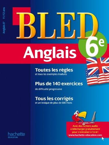 9782011602695: cahier bled ; anglais ; 6ème ; 11-12 ans