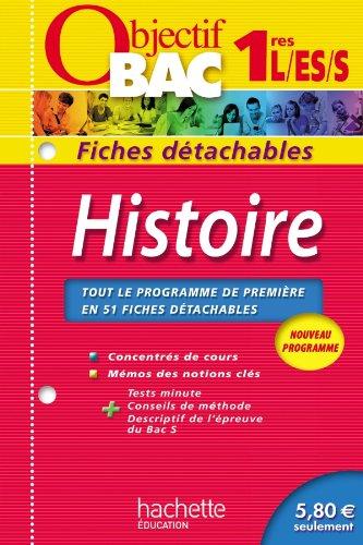 9782011602886: Objectif Bac - Fiches détachables - Histoire 1ères
