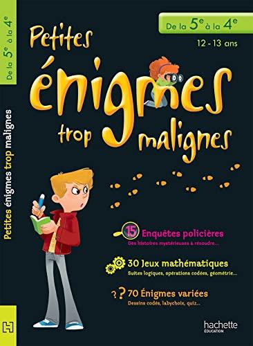 9782011607904: Petites énigmes trop malignes - De la 5e à la 4e