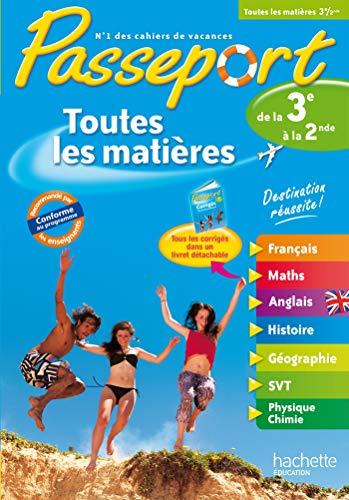 9782011607997: Passeport Toutes les matières - De la 3e vers la 2de