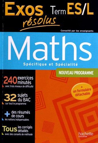 9782011608383: exos resolus - maths terminale es - enseignement obligatoire et de specialite