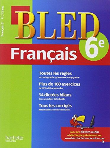 9782011608741: cahier bled - francais 6e - 11-12 ans