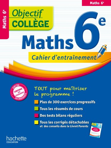 9782011611123: OBJECTIF COLLEGE MATHS 6EME (Collège / Brevet)