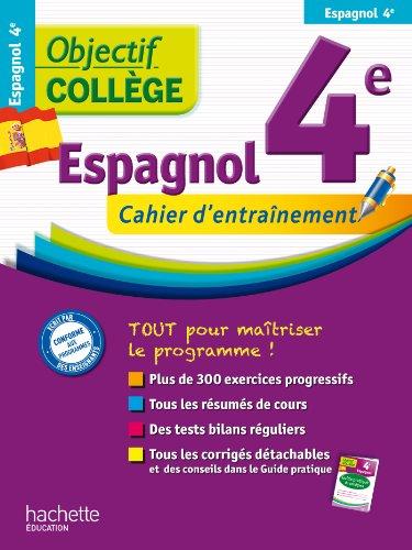 9782011611734: Objectif College Espagnol 4e cahier d'entrainement