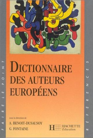 9782011666871: Dictionnaire des auteurs européens