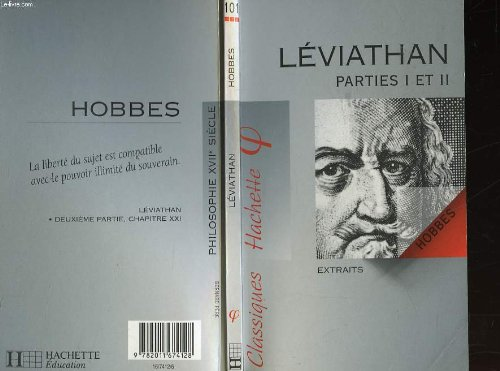 LEVIATHAN PARTIES I ET II. : Extraits: Thomas Hobbes