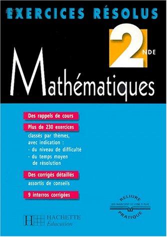 9782011679307: Exercices résolus : Mathématiques, 2nde