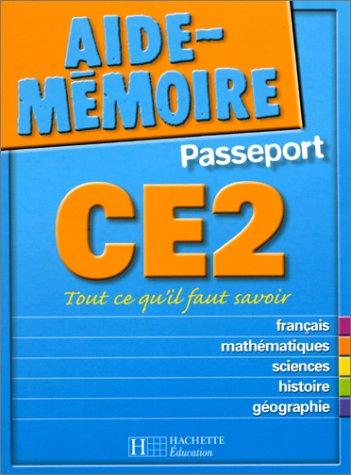 9782011681638: Aide-Mémoire Passeport : CE2 - 8-9 ans