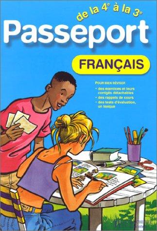 9782011681980: Passeport : Fran�ais, de la 4e � la 3e - 13-14 ans (+ corrig�)
