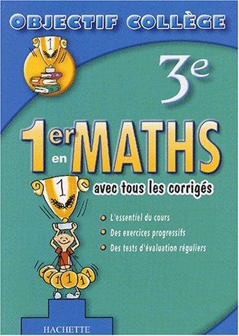 9782011686718: 1er en Maths, 3ème (+ corrigés)