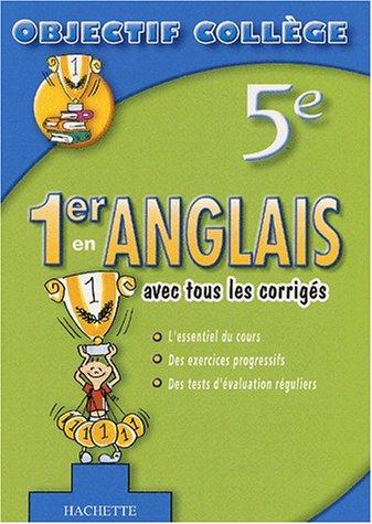 9782011686732: 1er en Anglais, 5ème (+ corrigés)