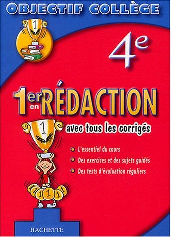 9782011686824: 1er en Rédaction, 4ème (+ corrigés)