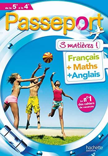 9782011696397: Passeport 3 matières de la 5e à la 4e : Français, Maths, Anglais