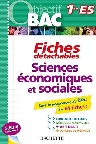 9782011697226: Sciences économiques et sociales Obligatoire et option science politique : Fiches détachables 1re ES