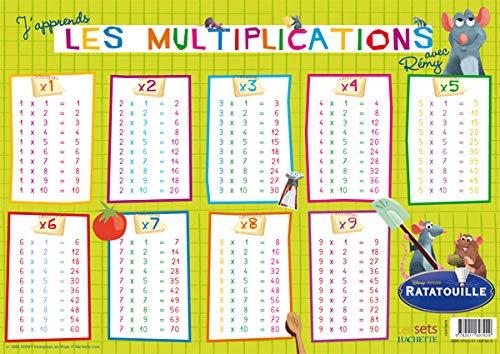9782011697929: J'apprends les multiplications avec Rémy : Set de table Ratatouille