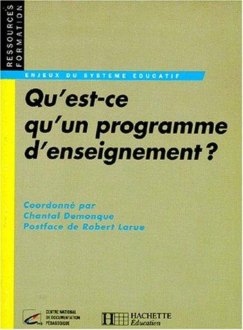 9782011703644: Qu'est-ce qu'un programme d'enseignement ?
